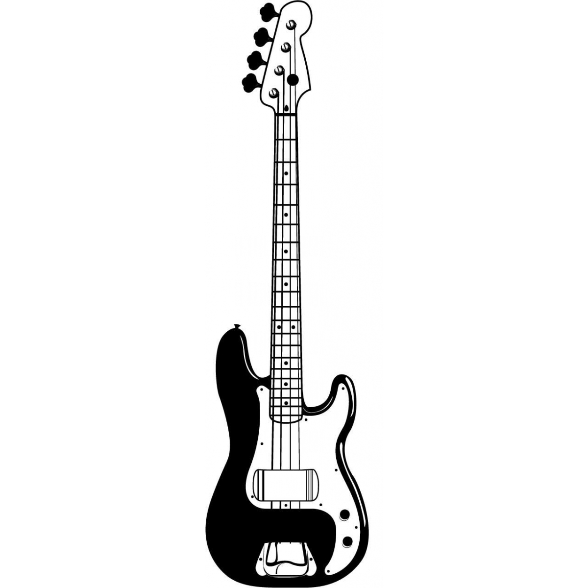Electric Guitar Silhouette Vector Free