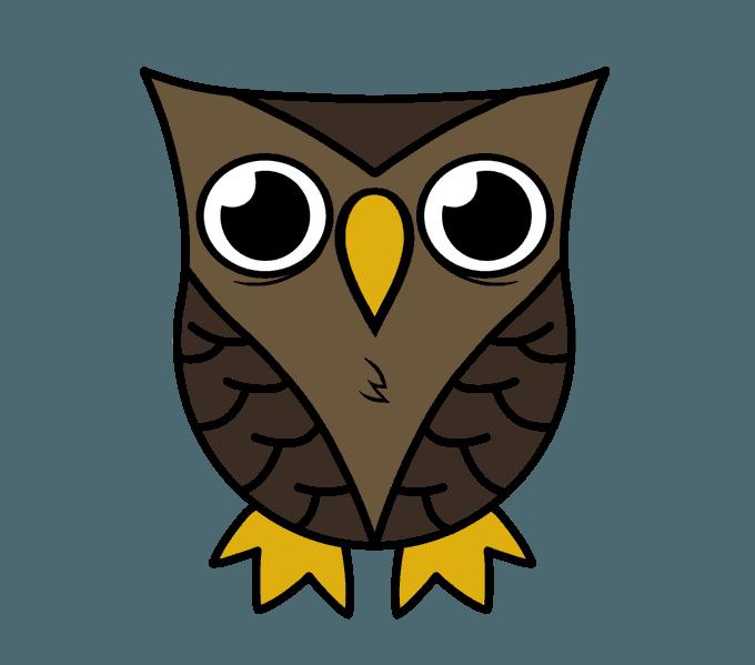 Owl Draw - ClipArt Best (680 x 599 Pixel)