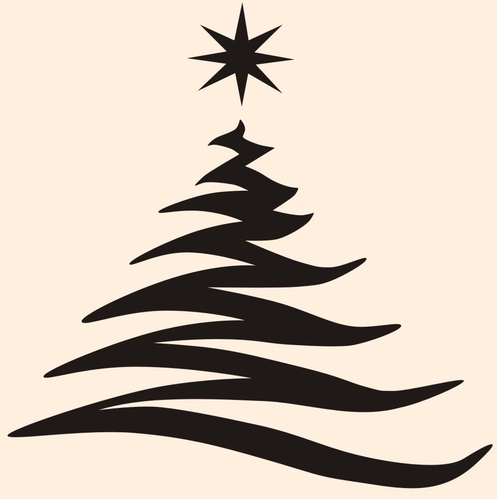 Christmas Tree Silhouette - ClipArt Best (999 x 1002 Pixel)
