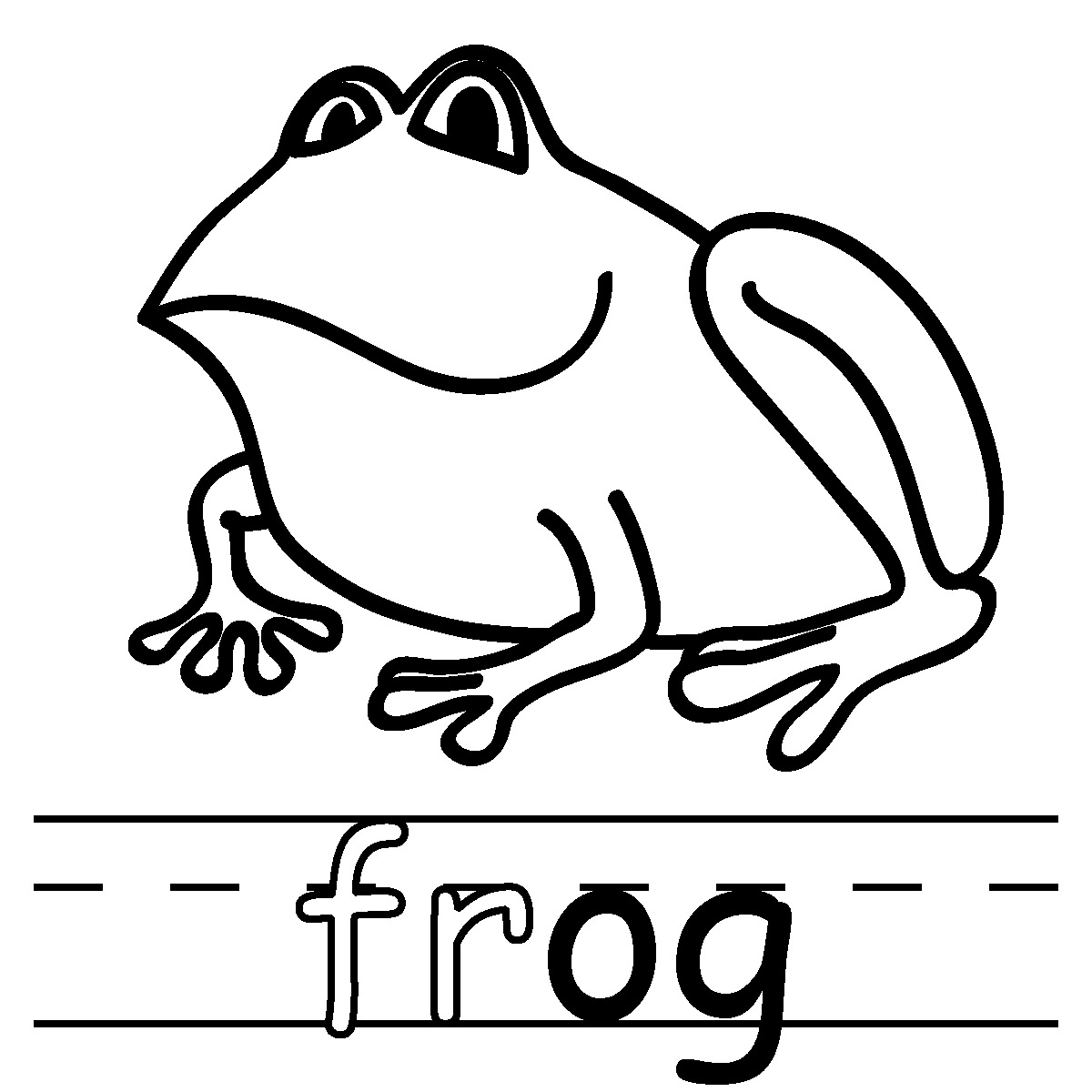 Clipart Outline Of Sitting Frog