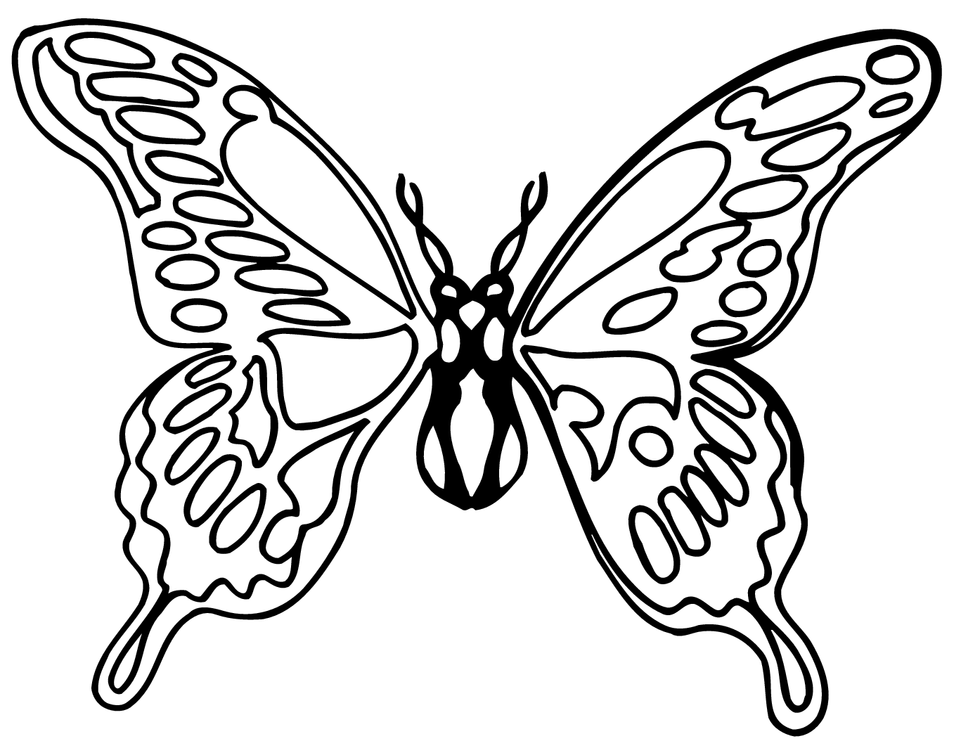 Monarch Butterfly Black And White Clipart