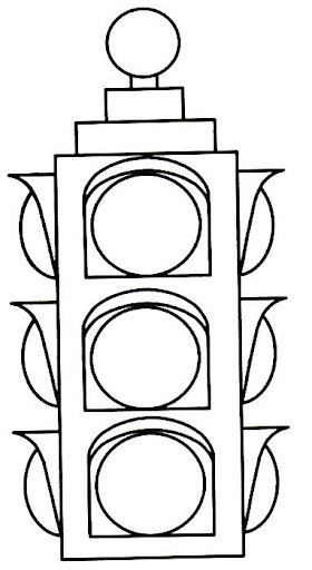 traffic light coloring page clipart best