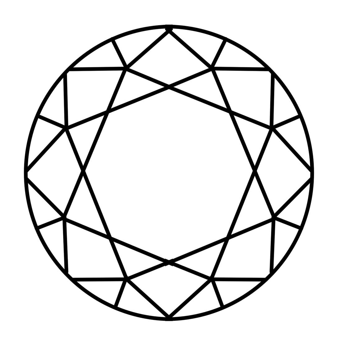 Outline Of A Diamond Shape