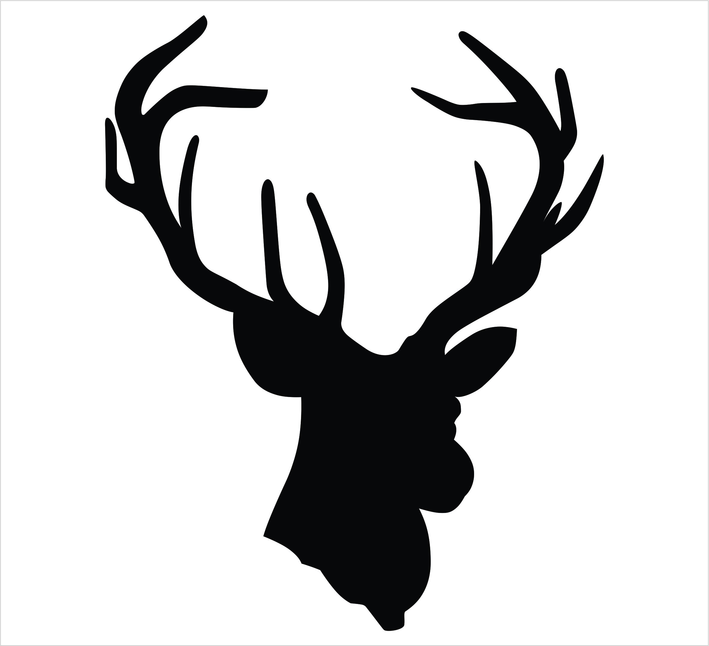 Deer Head Silhouette Clip Art