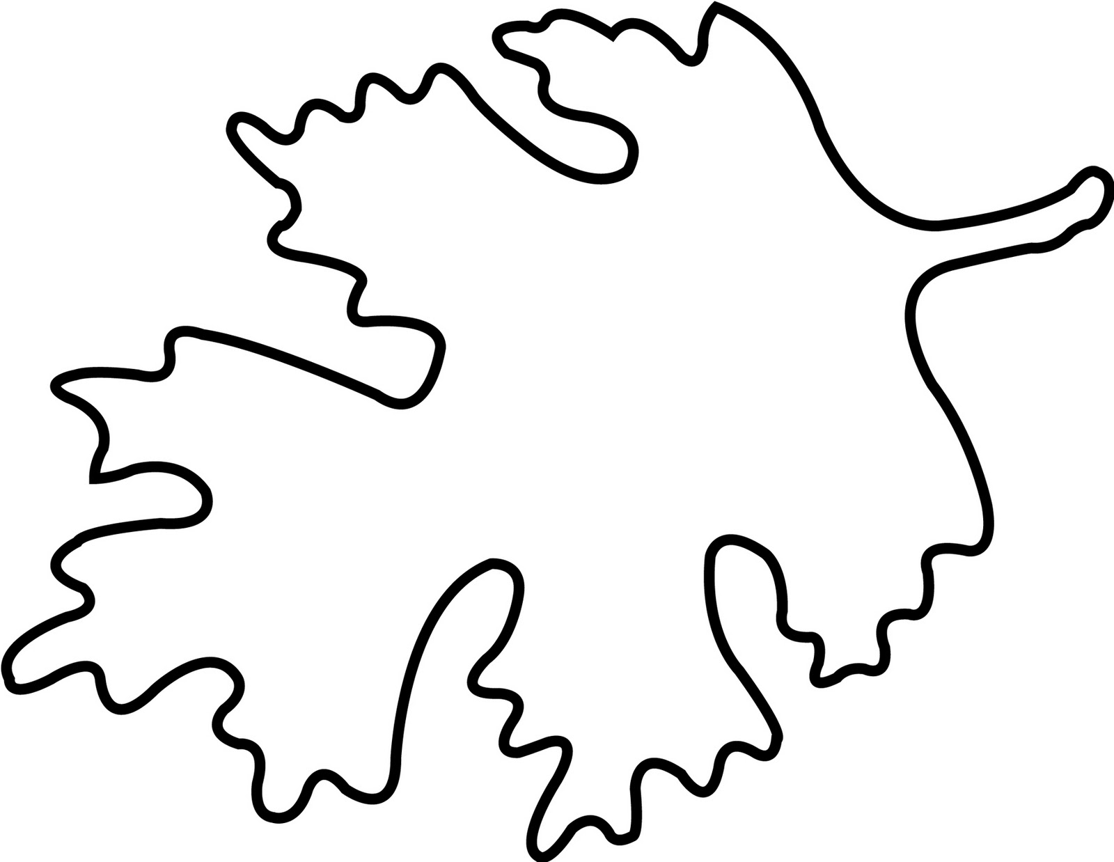 Oak Leaf Stencils