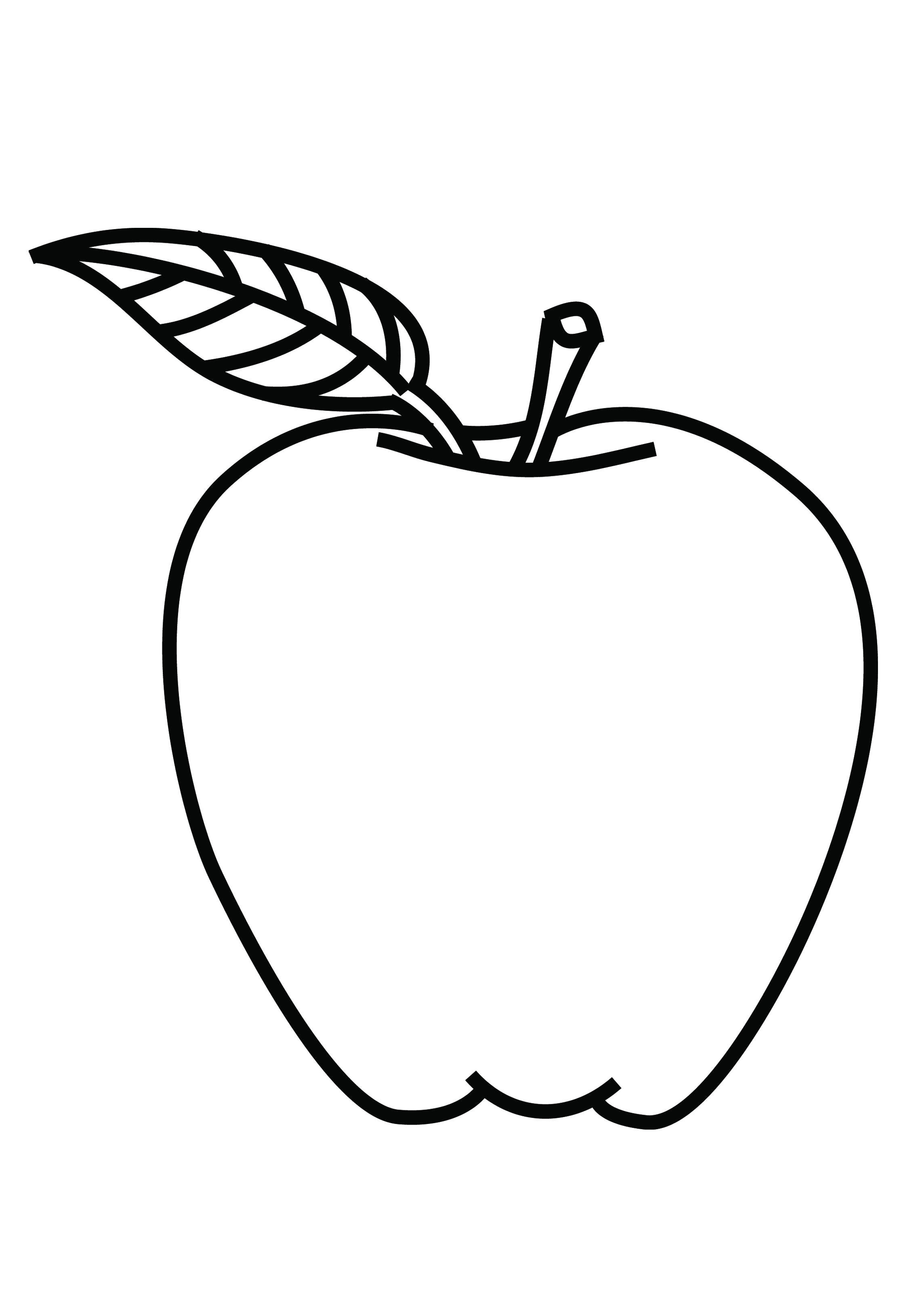 coloring page of apple clipart best