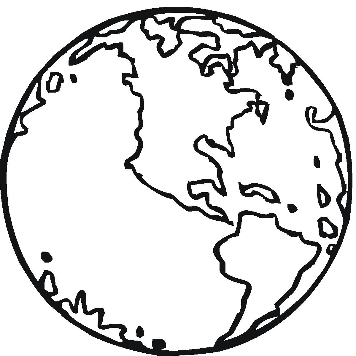 Line Drawing Earth