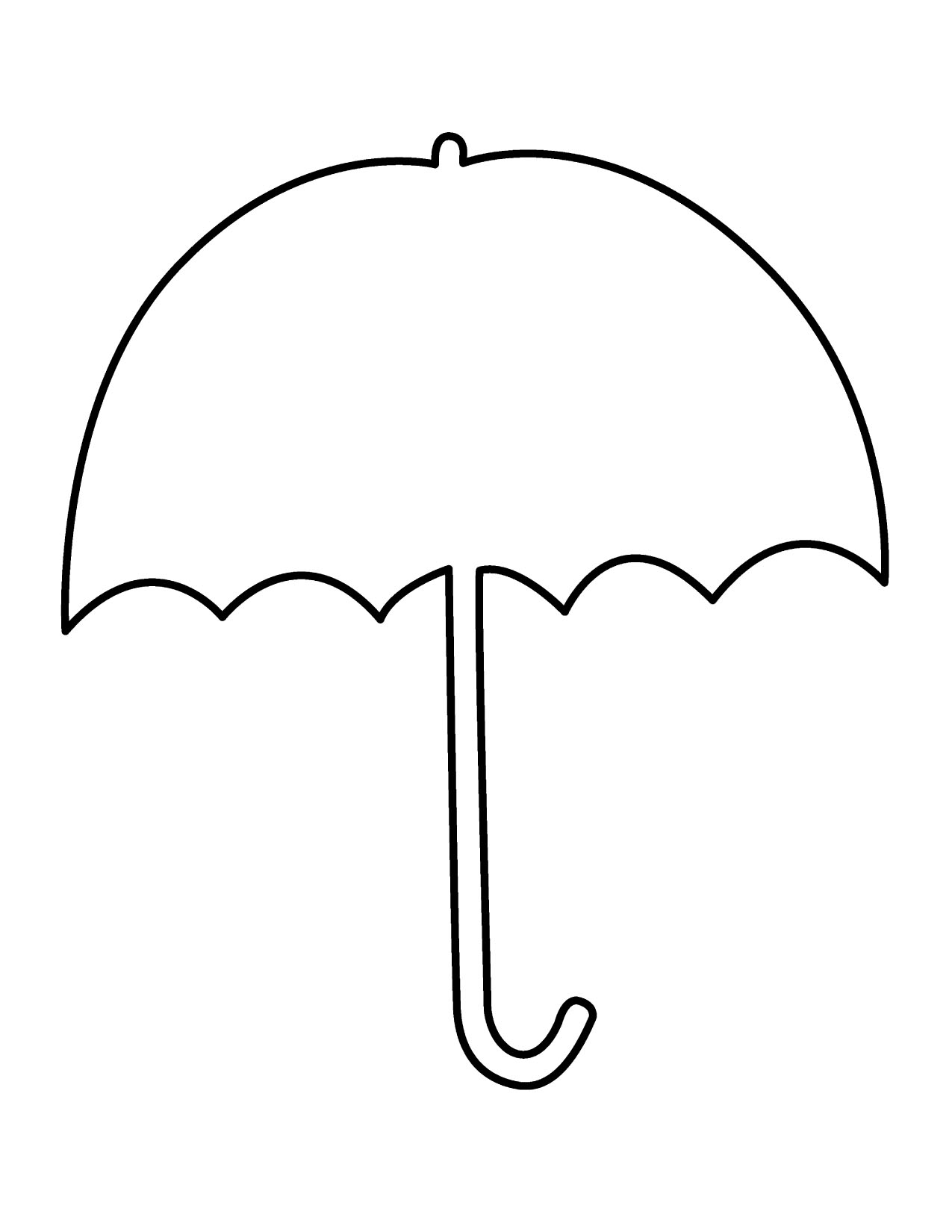 Colouring Worksheet Of Umbrella