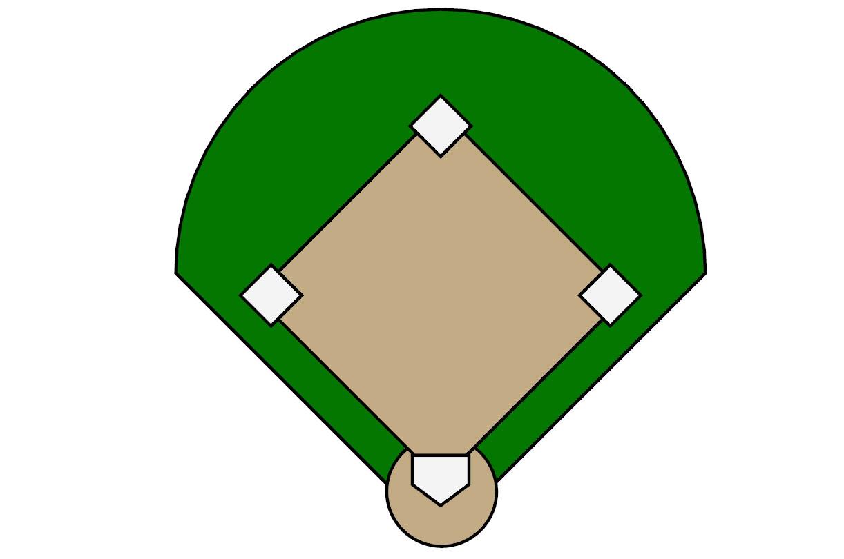 Baseball Diamond Outline