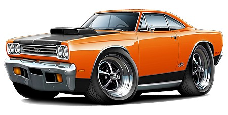 Muscle Cars Cartoon - ClipArt Best (450 x 227 Pixel)