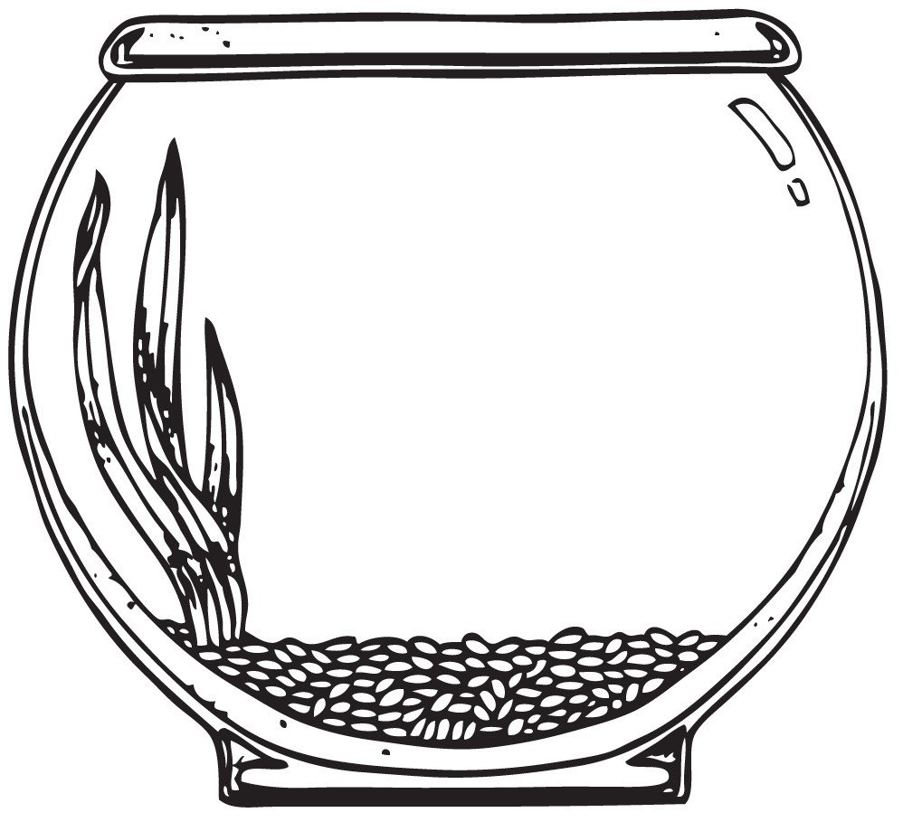 fish bowl coloring page fish bowl coloring page free coloring pages