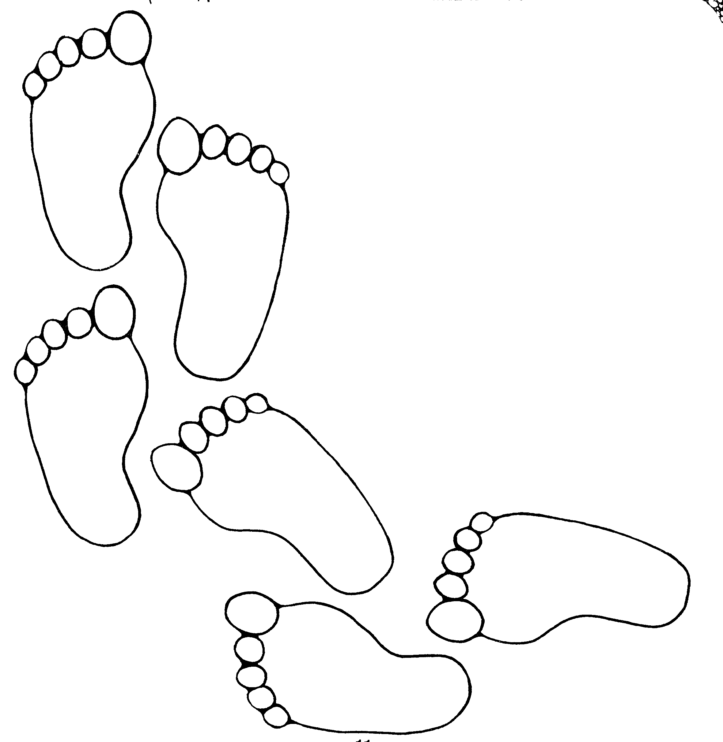 Footprint Pattern Printable