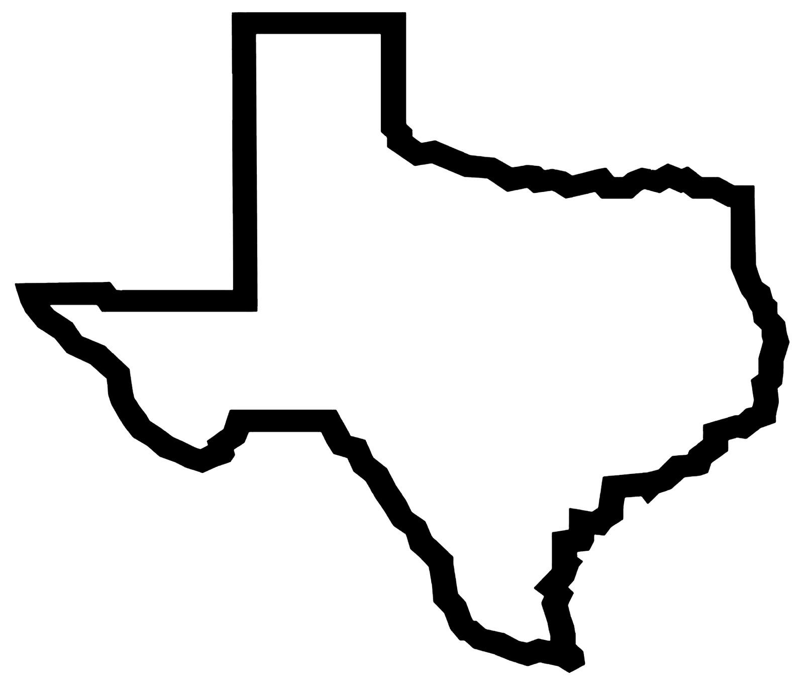 Texas Map Clip Art