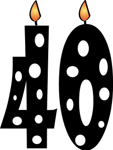 40th Birthday Candles Png Clipart Best Clipart Best