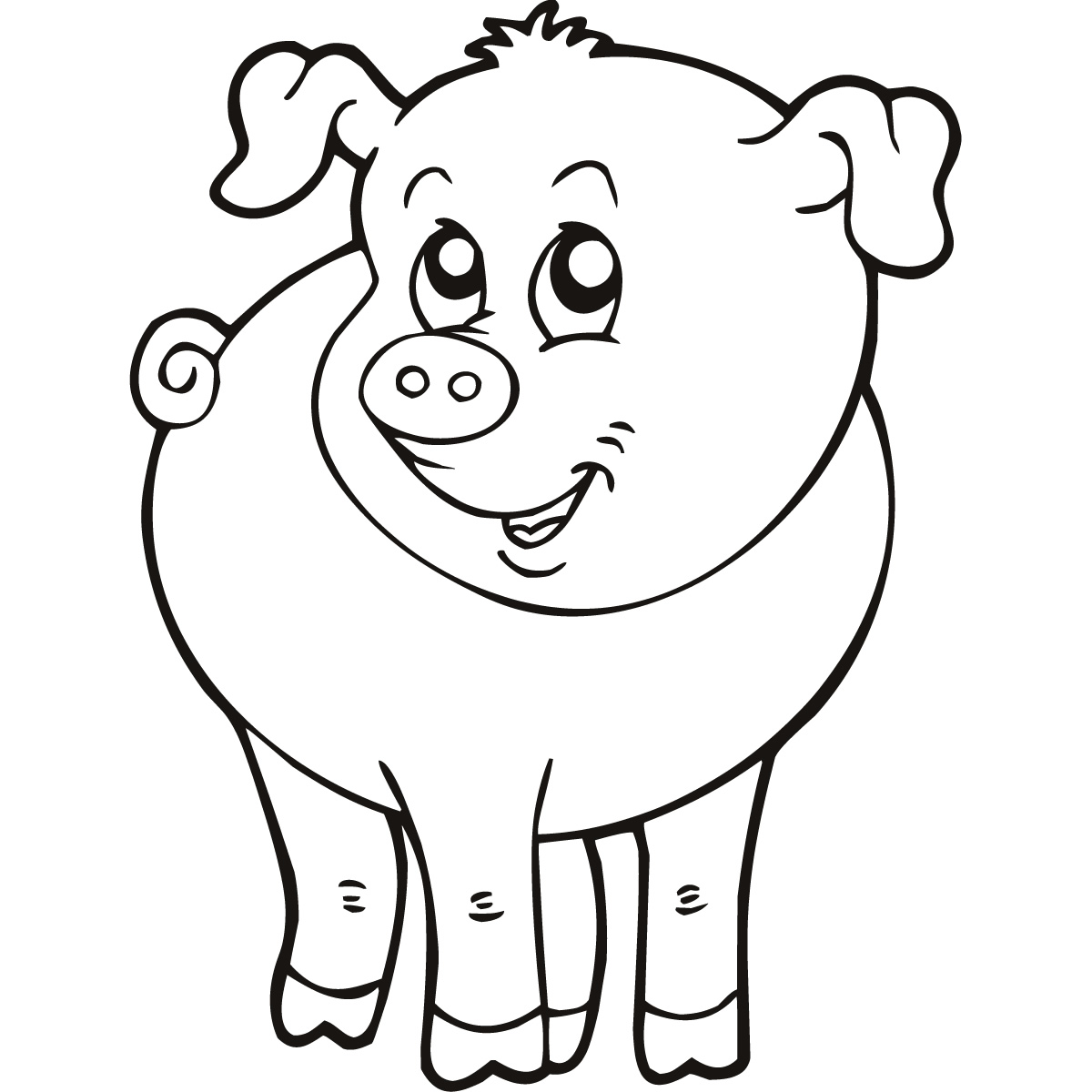 Simple Line Drawings Of Animals