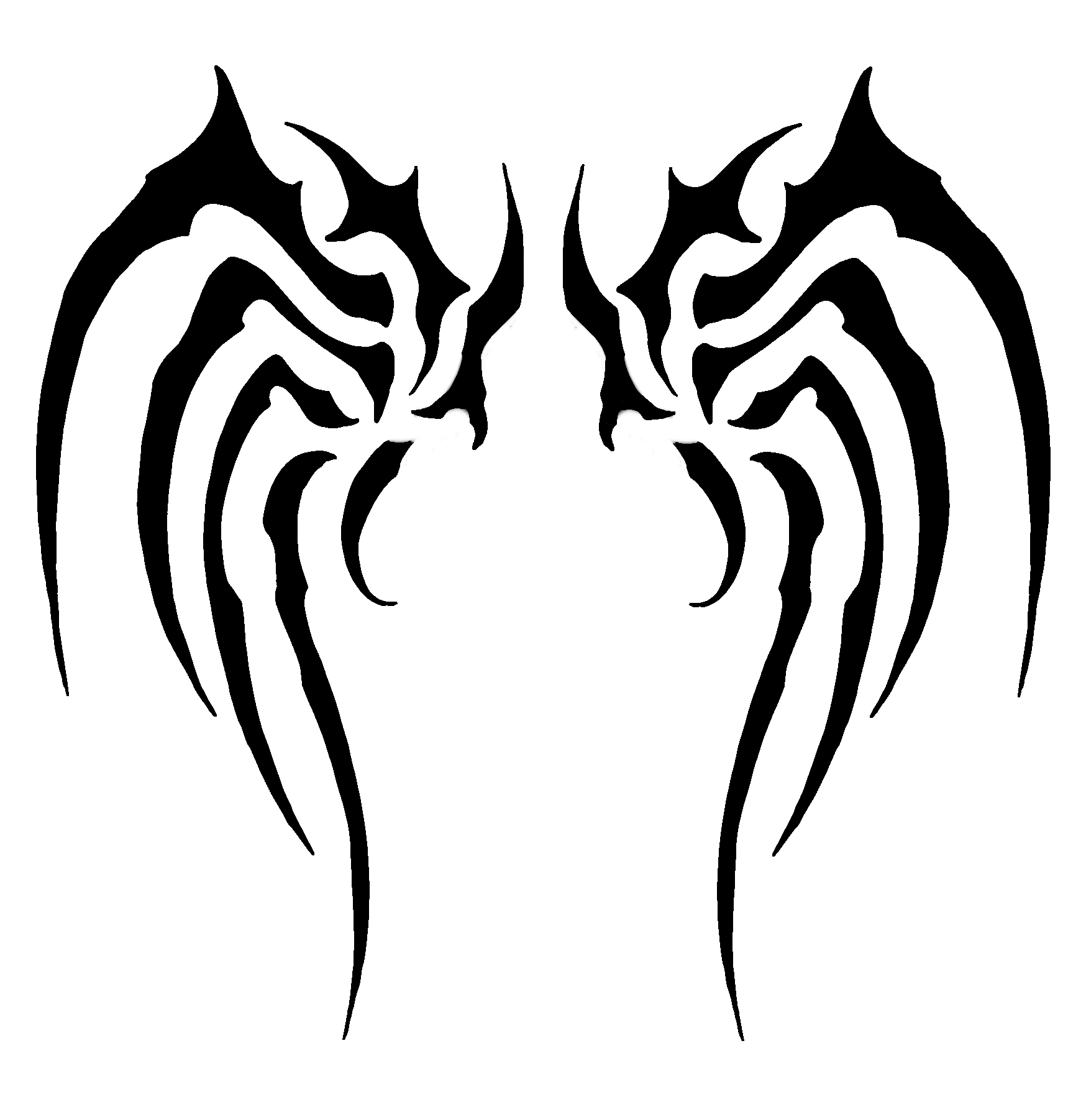 High Resolution X Simple Wings Tribal By Flo4nto
