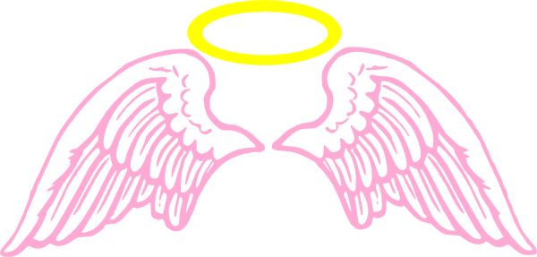 d5bc51841 Real T Shirt Template. cute pink angel wings with halo clip art ...