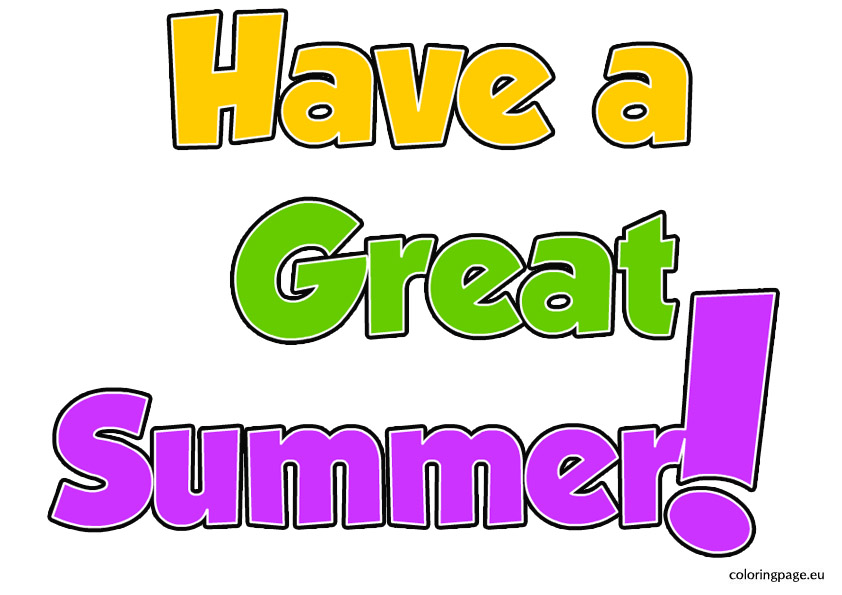 Have A Great Summer Clipart