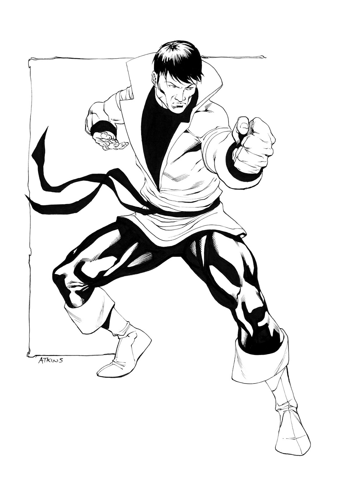 Karate Cartoon