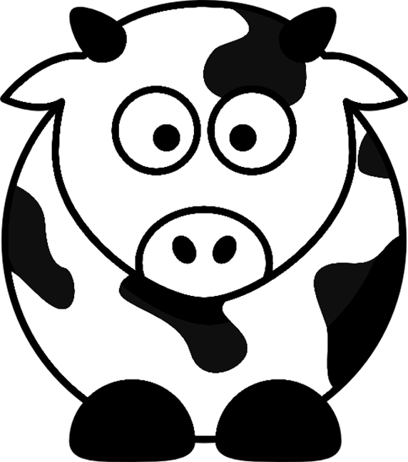 cow pages printable pages clipart best