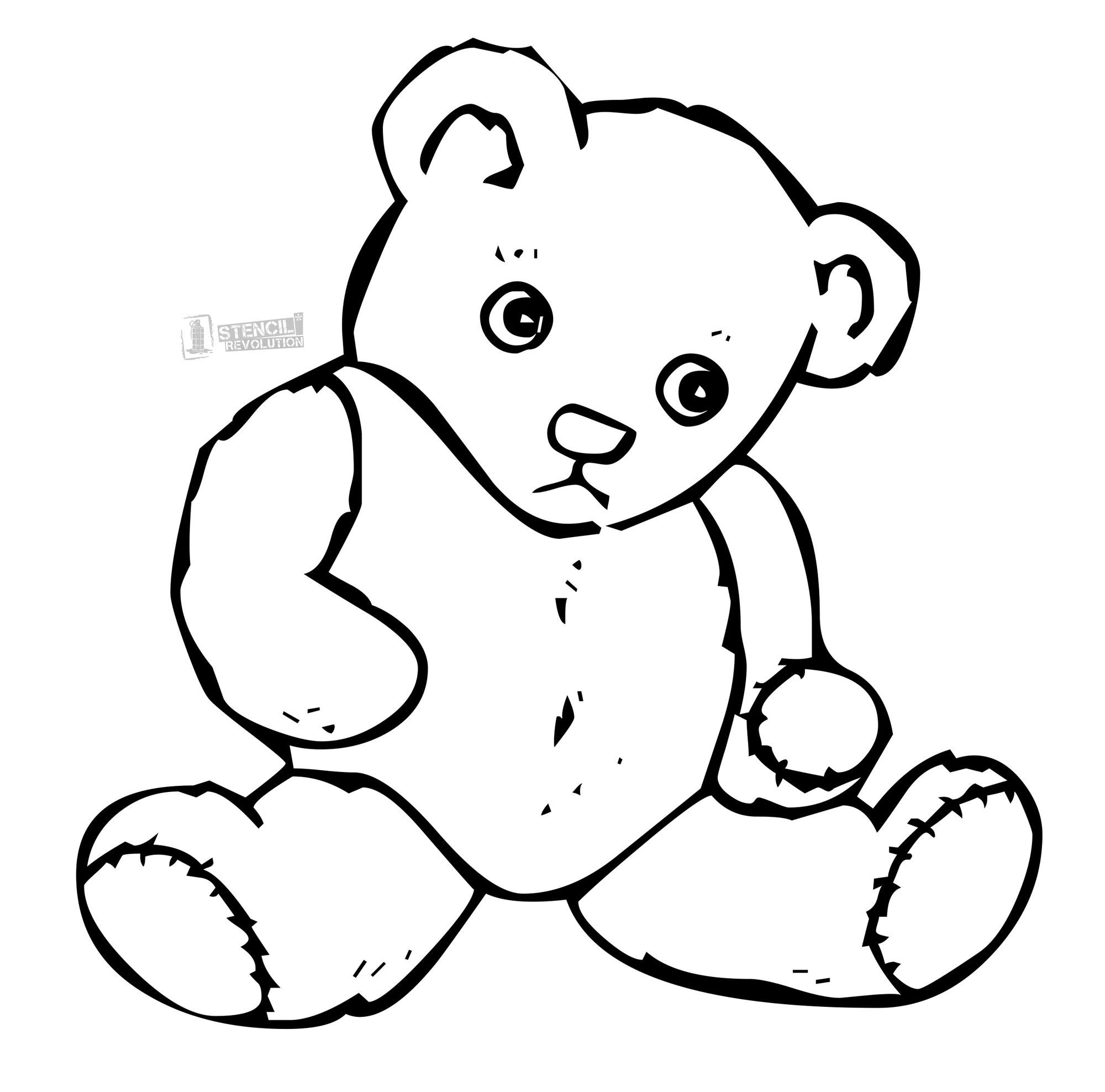 Teddy Bear Stencil