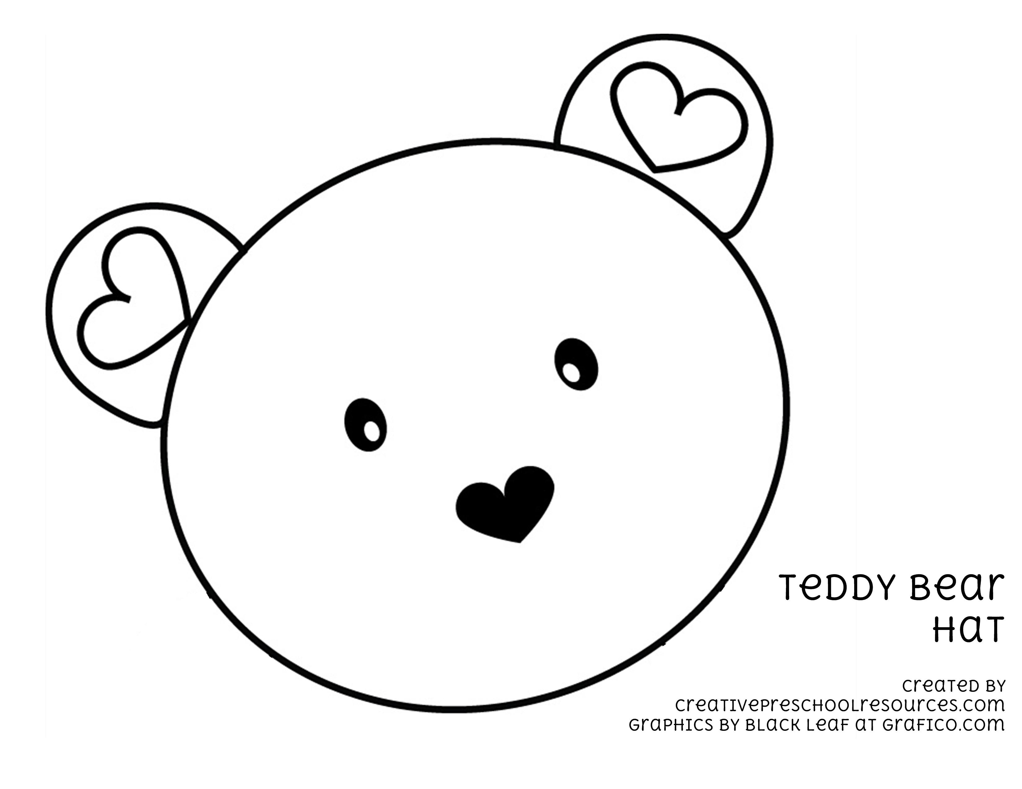 Teddy Bear Face Templates