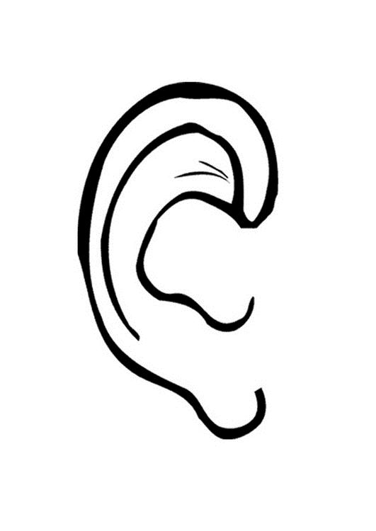 listening ear coloring page proverbs 1 33 coloring sheet