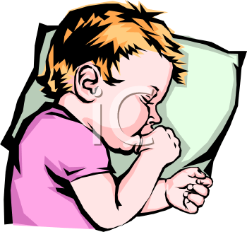 Child Sleeping With His Thumb in His Mouth