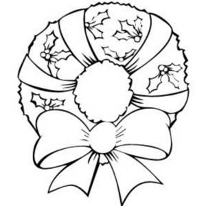 Image result for christmas wreath black and white