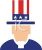 Uncle Sam Icon clipart
