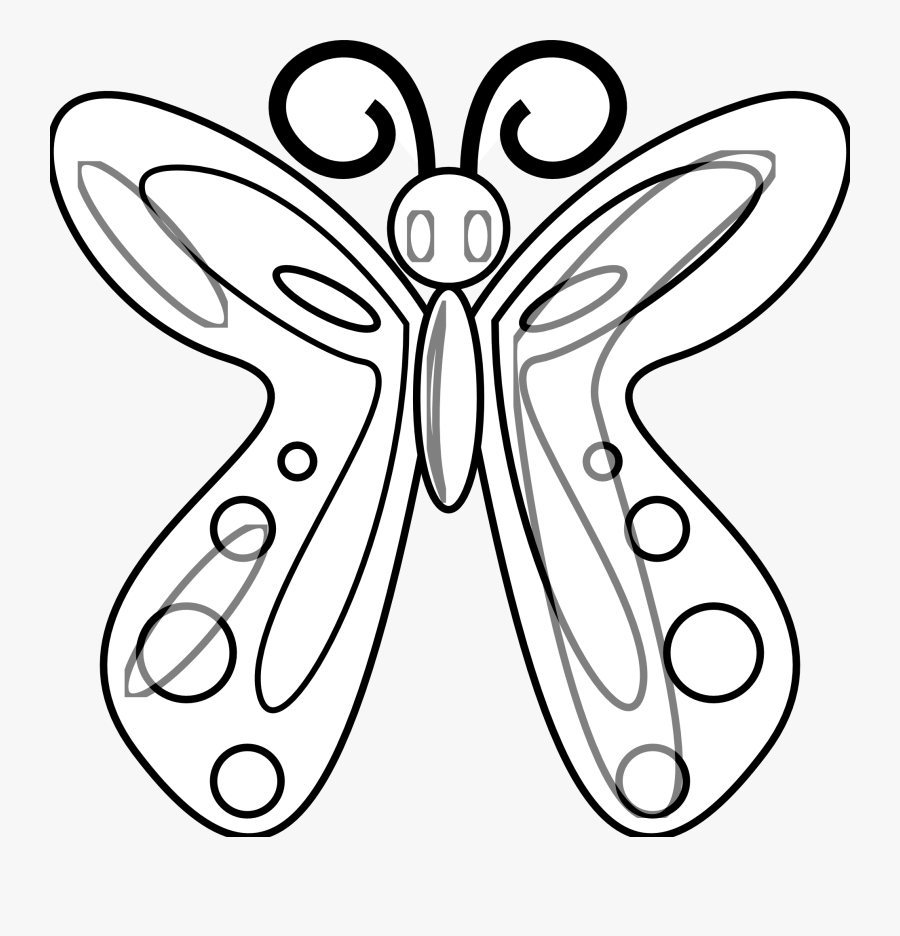 Caterpillar Clipart Black And White Free Clip Art Butterfly Black White Free Transparent Clipart Clipartkey