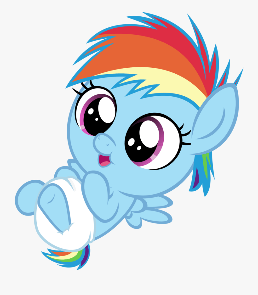 Transparent Cute Rainbow Png My Little Pony Fluttershy Baby Free Transparent Clipart Clipartkey