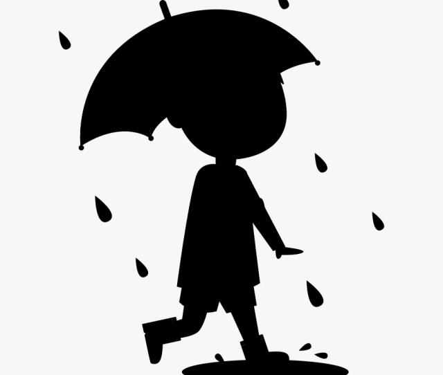 Clip Art Black White Siluet Vektor Anak Kecil Kartun Free
