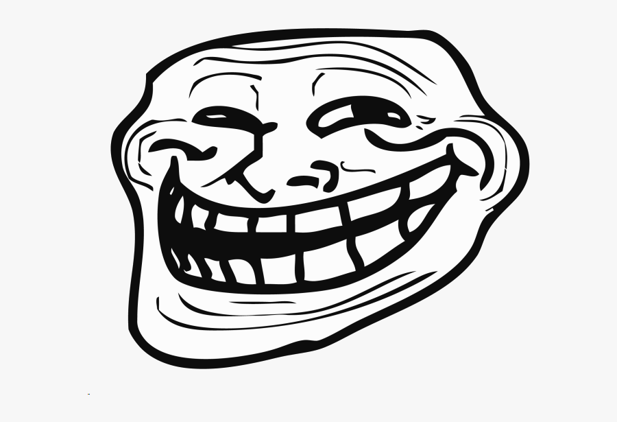 Transparent Troll Clipart Black And White Troll Face Transparent