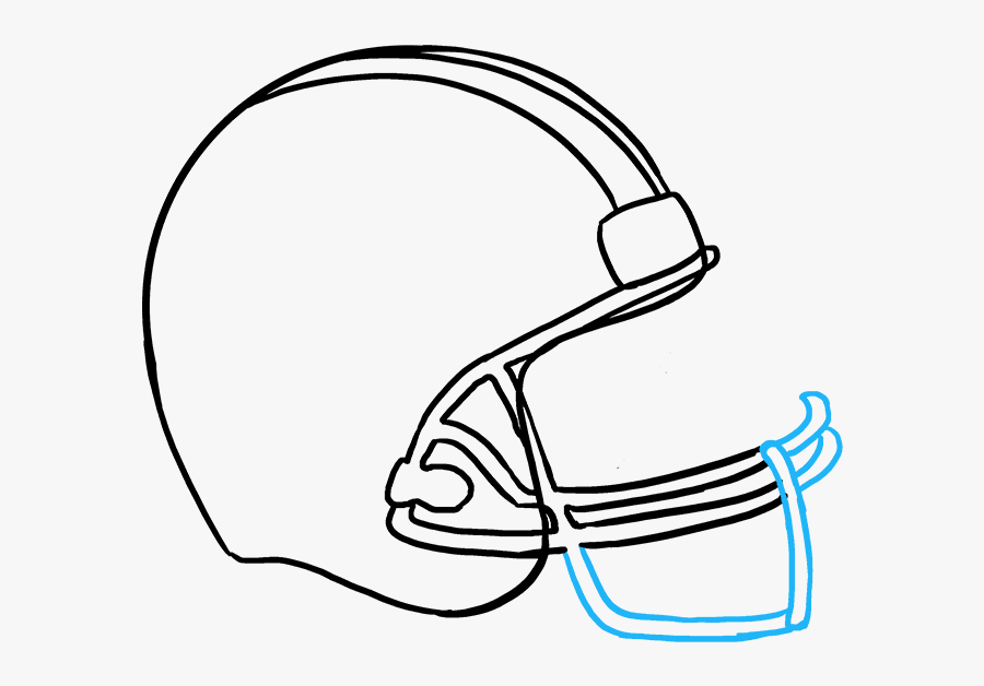 How To Draw Football Helmet Football Helmets Drawings Free Transparent Clipart Clipartkey