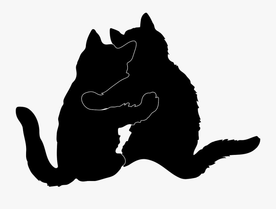 Download Cat Hugging Silhouette Cute Love Romance Romantic - Two ...
