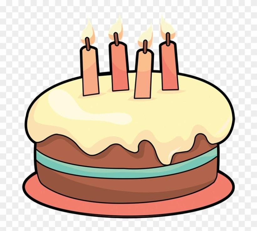 Art Cake Birthday Clipart 4 Cakes Clipartix Cartoon Free