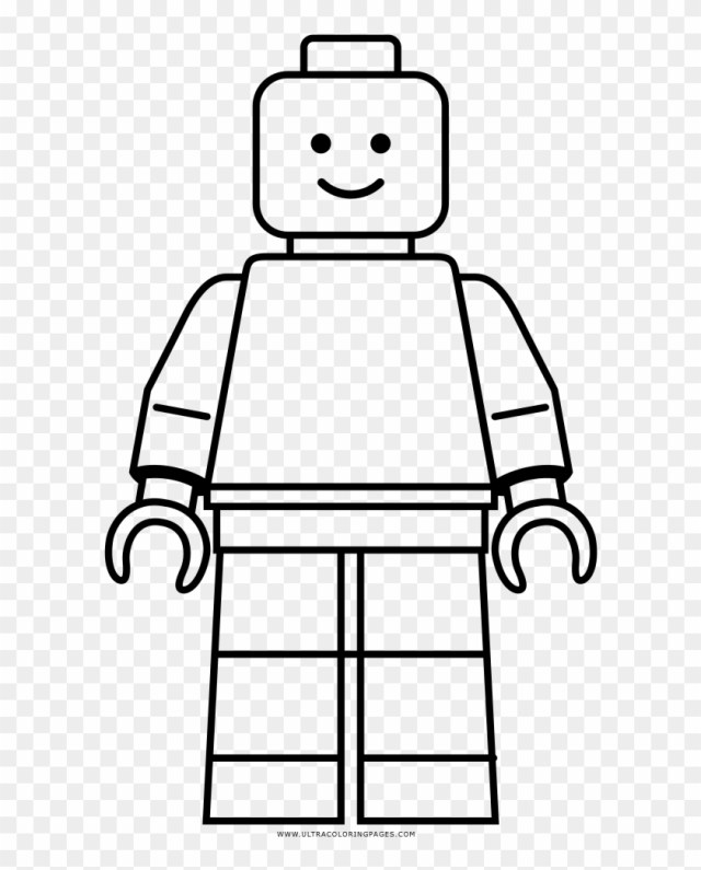 Lego Coloring Page - Lego Minifig Coloring Page - Free Transparent