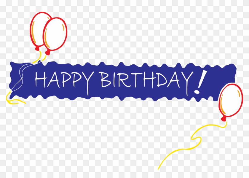 Clipart Birthday Banner Happy Birthday In One Line Free Transparent Png Clipart Images Download