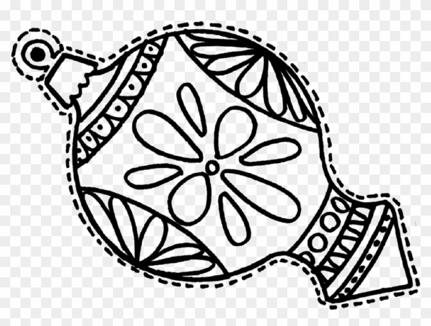 Christmas Decorations Coloring Pages Free Christmas Ornament Coloring Page Free Transparent Png Clipart Images Download