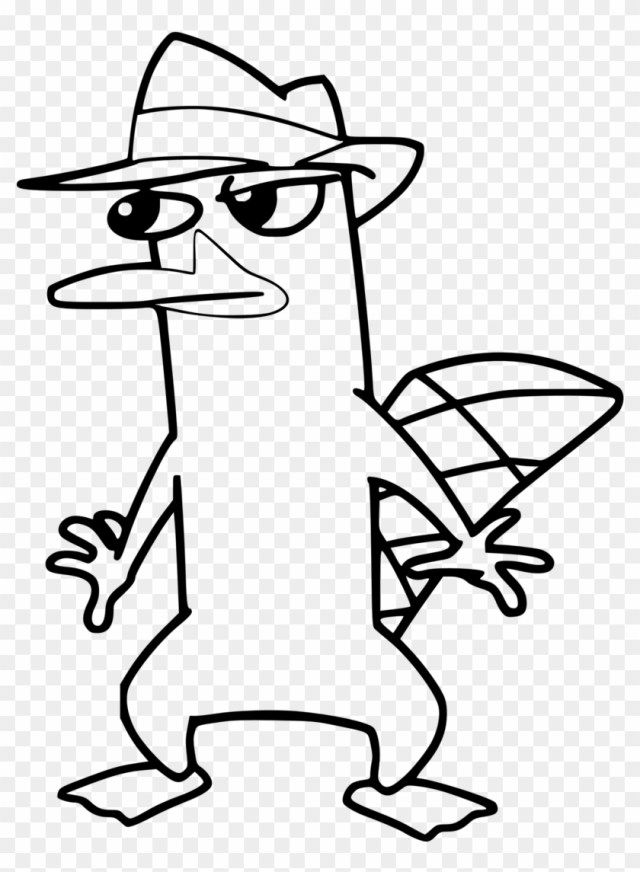 Platypus - Coloring - Pages - Platypus Perry Drawing - Free