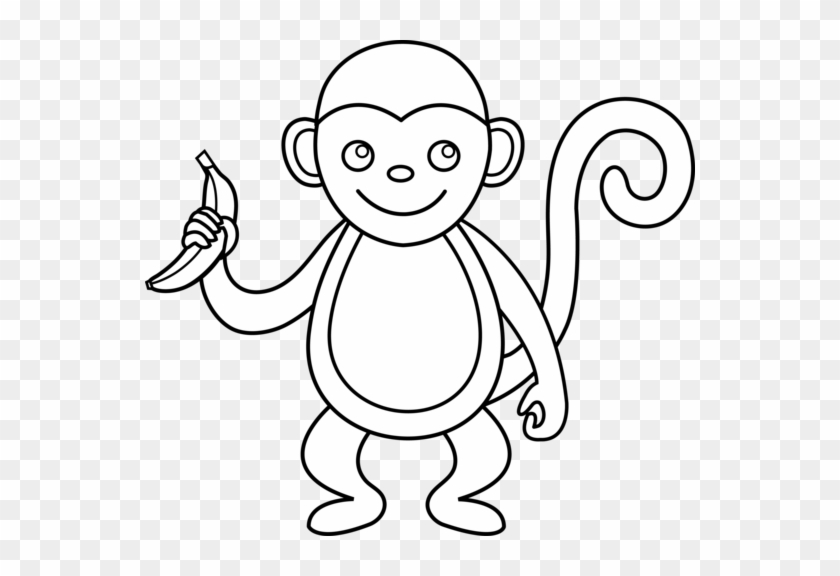 Monkey Clipart Black And White Clip Monkey Clipart Outline Free Transparent Png Clipart Images Download