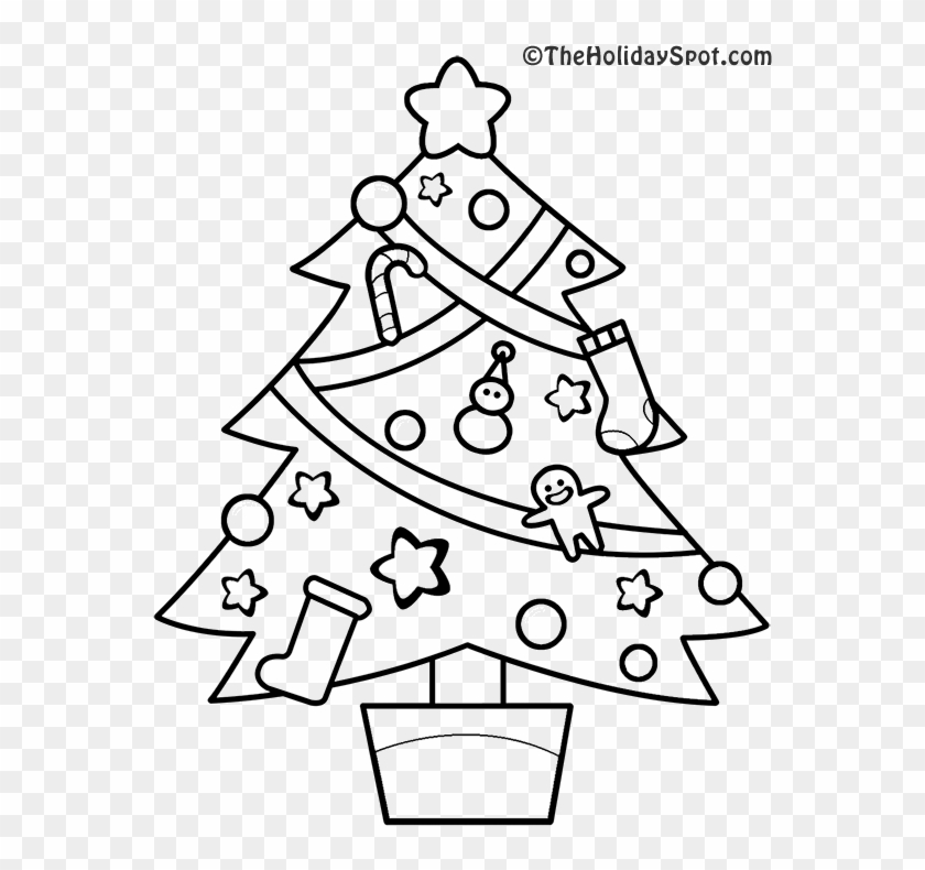 Christmas Tree Coloring Picture Christmas Trees To Colouring Free Transparent Png Clipart Images Download