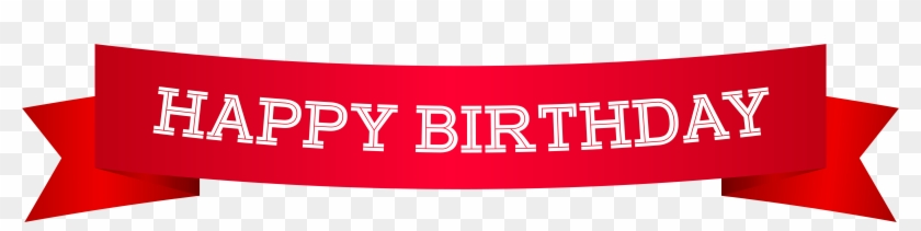 Happy Birthday Banner Red Png Clip Art Image Label Free Transparent Png Clipart Images Download