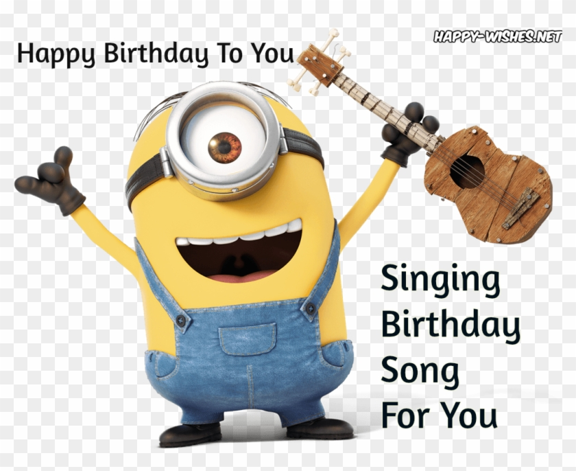 Happy Birthday Minion Image On Singing Birthday Image Happy Birthday Singing Minions Free Transparent Png Clipart Images Download