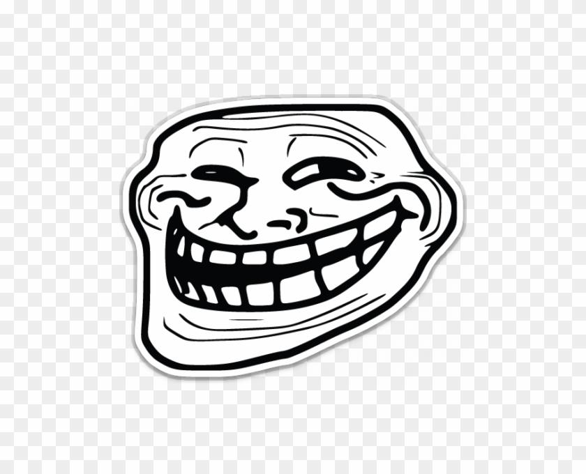 Troll Face Meme Shaped Sticker Unixstickers Troll Face Jpg