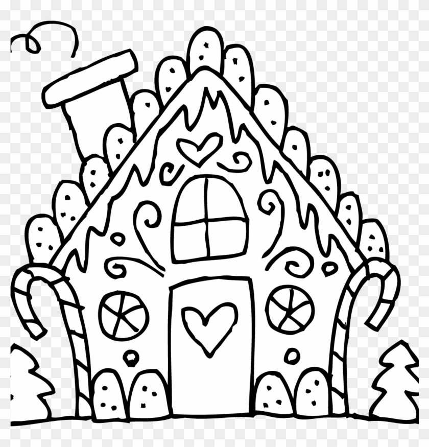 Best Gingerbread House Coloring Pages For Kids 1224 Gingerbread House Color Page Free Transparent Png Clipart Images Download