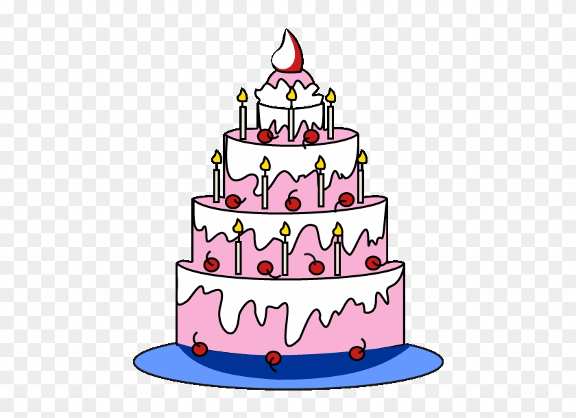 Drawn Candle Simple Happy Birthday Cakes Drawings Step By Step Free Transparent Png Clipart Images Download