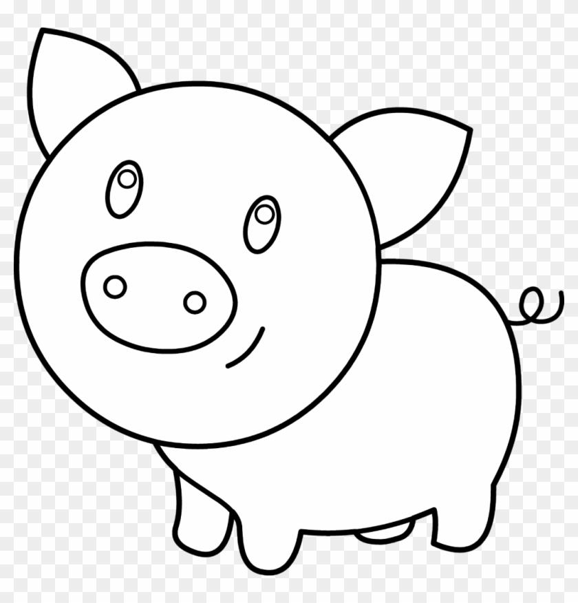 Pig Pen Clipart Clipartfest Pig Pen Coloring Page In Easy Pig Coloring Pages Free Transparent Png Clipart Images Download