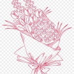 Pink Flower Bouquet Floral Design Drawing Drawing Free Transparent Png Clipart Images Download